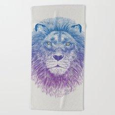 Face of a Lion Beach Towel