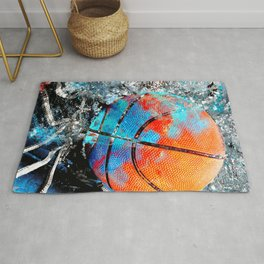 Basketball art print vs 2 Rug