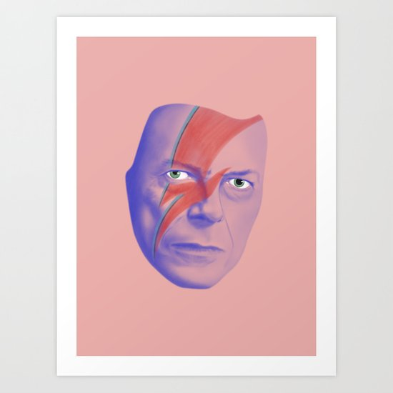 Bowie forever Art Print