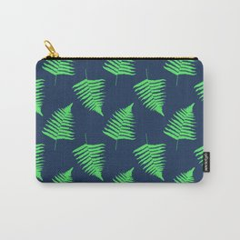 Navy and Lime Fern Pattern Carry-All Pouch