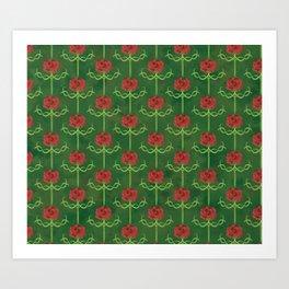 Spring Roses Pattern Art Print
