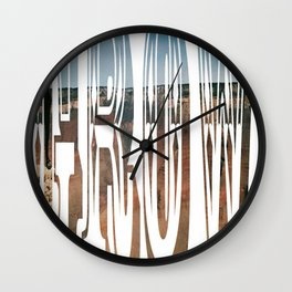 April Shower Bring May Flowers Wall Clock