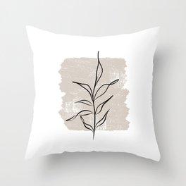 Botanical line No 3 Throw Pillow