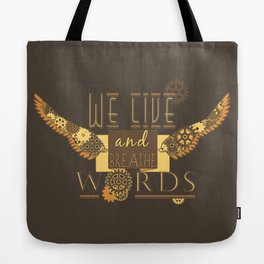 Cassandra Clare - We Live And Breathe Words Tote Bag
