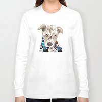 pit bull Long Sleeve T-shirts featuring a pit bull day by bri.buckley