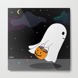 Candy Ghost Metal Print