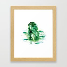 Frog Princess Sea Witch Framed Art Print