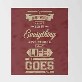 Lab No. 4 It Goes On Robert Frost Motivational Quote Throw Blanket