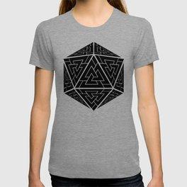 d20 Viking Valknut Odin T-shirt