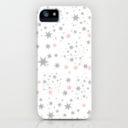 Stars silver and blush iPhone Case