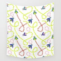bugs Wall Tapestries featuring Whimsy Bugs by Sierra Neale