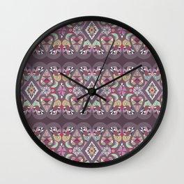 Seamless lacy lace pattern background Wall Clock