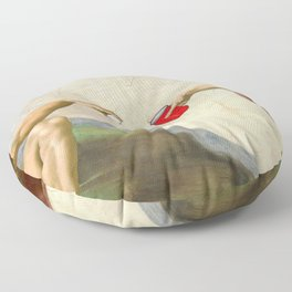 Sistine of Beer Pong Floor Pillow