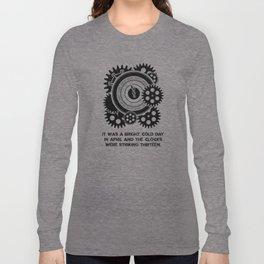 George Orwell - 1984 - Clock Striking 13 Long Sleeve T-shirt