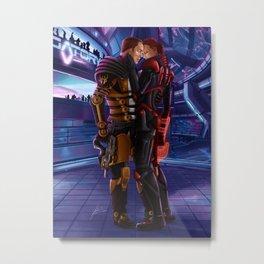 Mass Effect - A meeting in Purgatory Metal Print