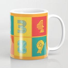 Number Grid Coffee Mug