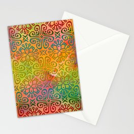 DP050-6 Colorful Moroccan pattern Stationery Cards