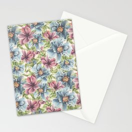 Hibiscus Vintage Pattern Stationery Cards