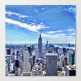 Empire State from the Rock. Canvas Print