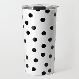 Simply Dots in Midnight Black Travel Mug