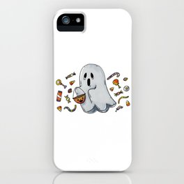 Trick or Treating Halloween Ghost iPhone Case