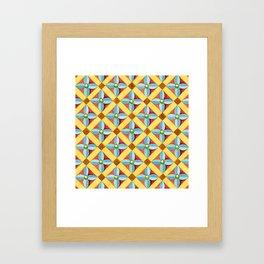 Heraldic Quatrefoil Lozenge Framed Art Print