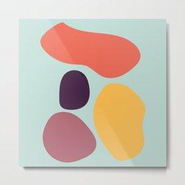 Abstract shapes 1 Metal Print