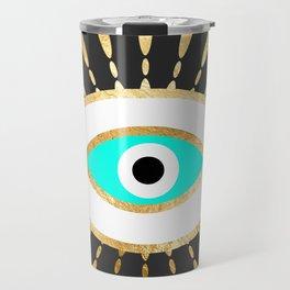 evil eye gold foil print Travel Mug