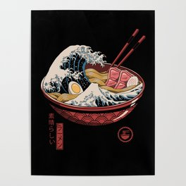 Great Ramen Wave Poster
