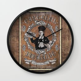 """Chef Dracula's Restaurant: """"Every BITE Guaranteed to ENTHRALL"""" (Old Paper Poster) Wall Clock"""