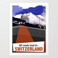 switzerland Art Prints featuring Switzerland by TheGretest