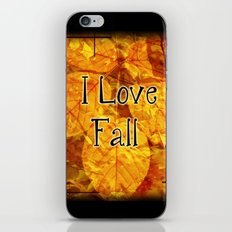 Autumn Memories In Orange I Love Fall.jpg iPhone & iPod Skin