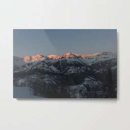 The majestic peaks of the Teton Range reflect in a mountain stream in Grand Teton National Park in n Metal Print