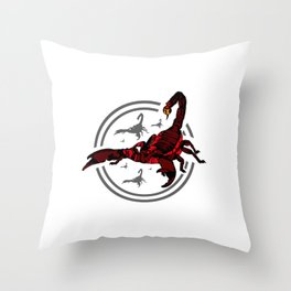 Red Scorpion 2 Throw Pillow