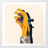 boneface Art Prints featuring I HAVE THE POWER by boneface