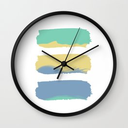 Watercolor Strokes Wall Clock