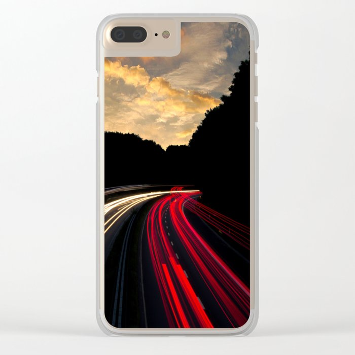 Highway to Adventure Clear iPhone Case