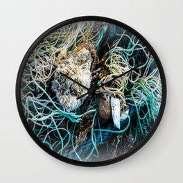 Seaside Flotsam Wall Clock
