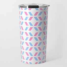 Oblique polka dot blue and pink Travel Mug