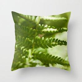 Fern Photography Print Throw Pillow