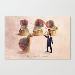 The snail tamer Canvas Print