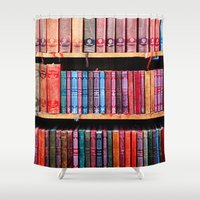 books Shower Curtains featuring books by Baptiste Riethmann