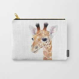 Baby Giraffe Cute Animal Watercolor Carry-All Pouch