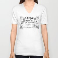 ouija V-neck T-shirts featuring Ouija (Gravedigger) by Billy Ludwig