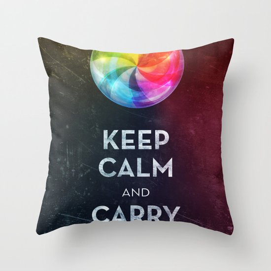 Keep Calm Throw Pillow