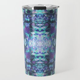 Abstract Floral Burst Travel Mug