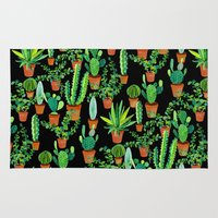 cacti Area & Throw Rugs featuring Cacti by Sian Keegan