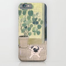 Pug Puppy Playing Slim Case iPhone 6s