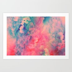Food Coloring Art Print