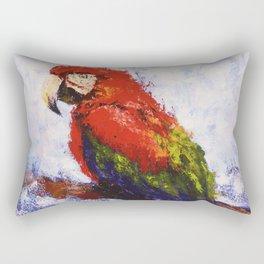 Scarlet Macaw /// by Olga Bartysh Rectangular Pillow